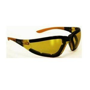 Motorcycle Glasses Sunglasses Yellow Padded Poser